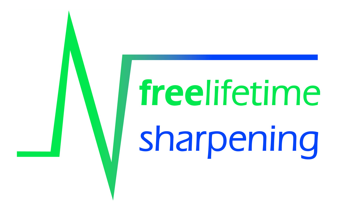 Free lifetime sharpening logo